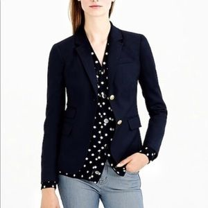 J. Crew Black Wool School Boy Blazer